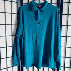 Champion turquoise rugby polo sz L